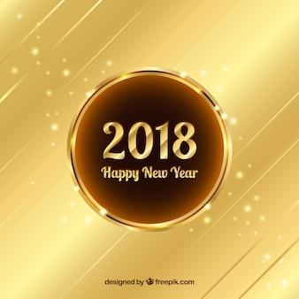 Fondo dorado de año nuevo 2018
