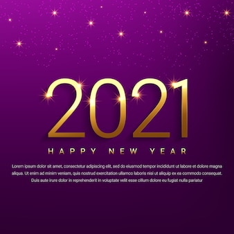 Fondo dorado feliz año nuevo 2021