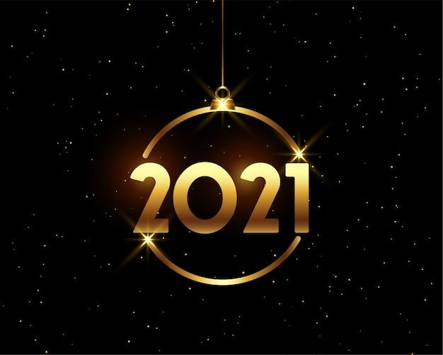 Fondo dorado feliz año nuevo brillante