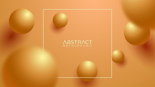 Fondo dorado de lujo con esferas