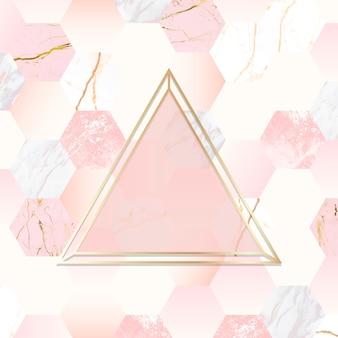 Fondo dorado y rosa