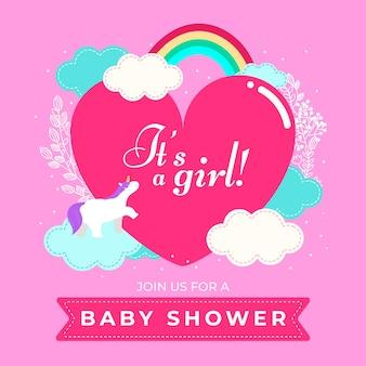 Fondo de ducha de bebé niña