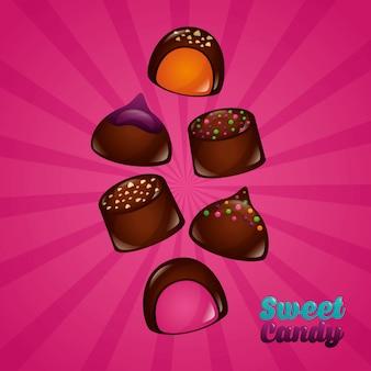Fondo de dulces dulces