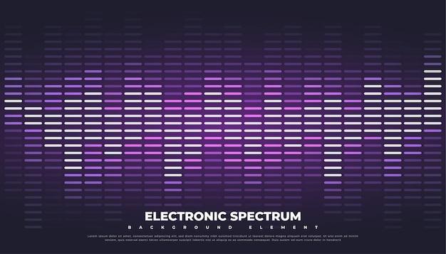 Fondo de ecualizador de música o onda de sonido.