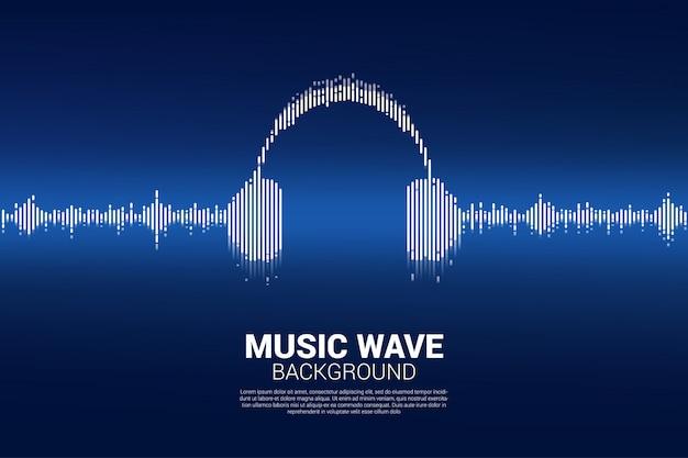 Fondo de ecualizador musical de la onda de sonido