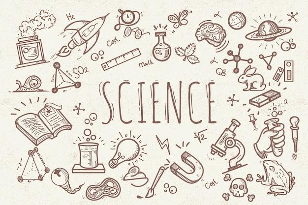 Fondo de educación científica de diseño vintage
