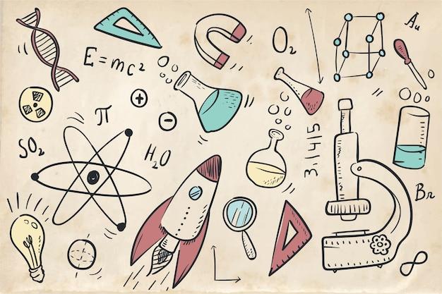 Fondo de educación científica vintage