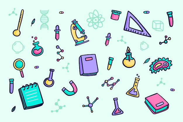 Fondo de educación de diseño dibujado a mano