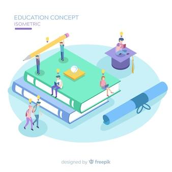 Fondo educación isométrico