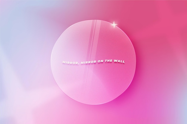 Fondo de efecto de cristal circular realista