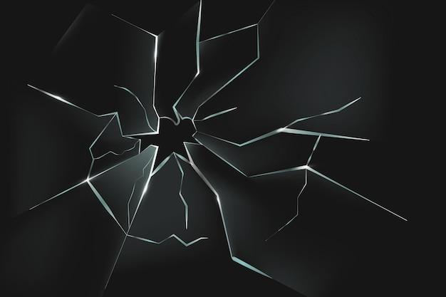 Fondo de efecto de cristal realista