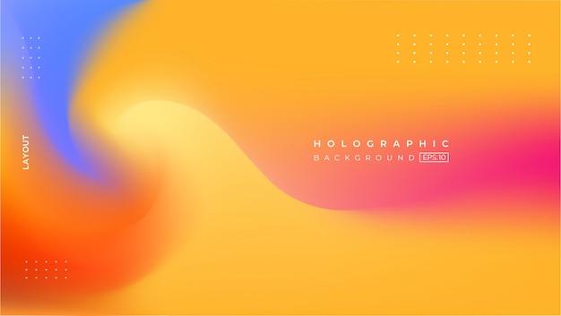 Fondo de efecto degradado holográfico borroso abstracto