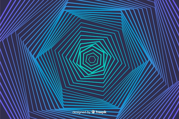 Fondo de efecto ilusión con líneas