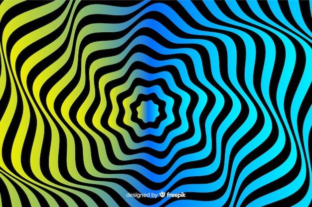 Fondo de efecto de ilusión óptica con degradado