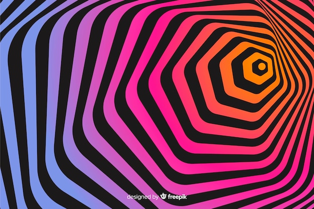 Fondo de efecto de ilusión óptica