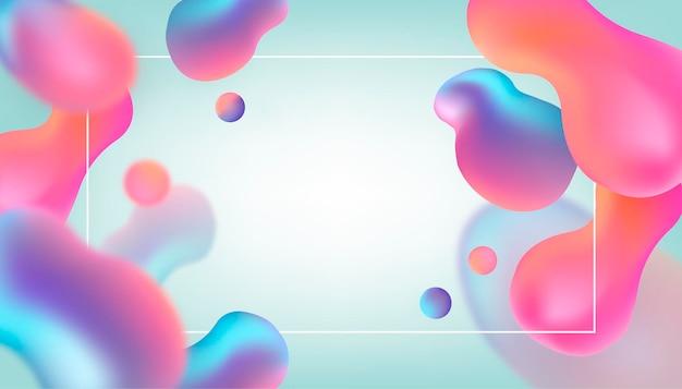 Fondo de efecto líquido abstracto colorido