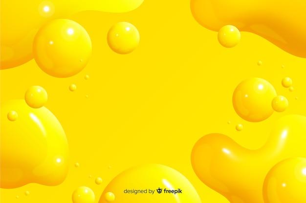 Fondo con efecto liquido realista monocroma