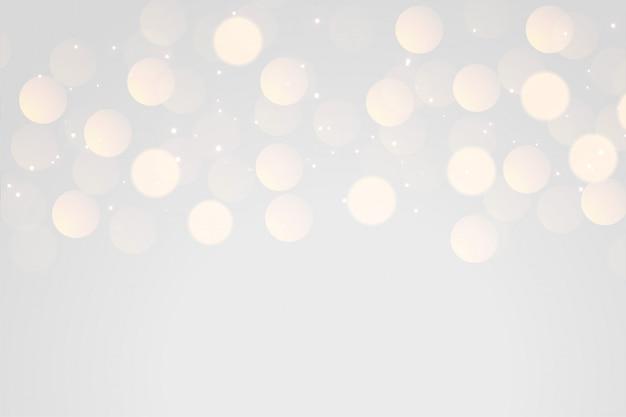 Fondo de efecto de luz bokeh gris suave