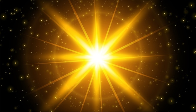 Fondo de efecto de luz brillante con destellos