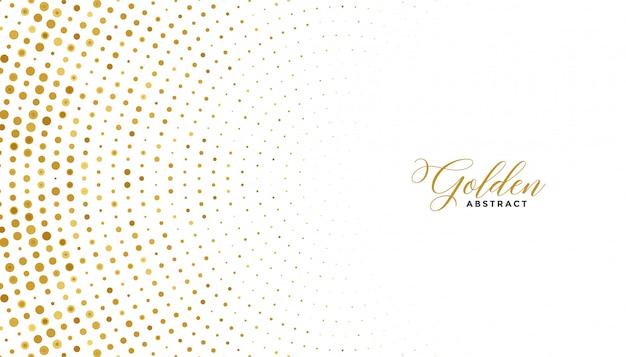Fondo de efecto de semitono blanco y dorado