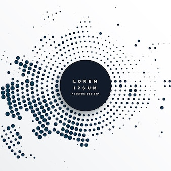 Fondo de efecto de semitono circular abstracto