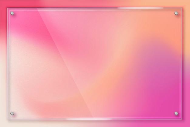 Fondo de efecto de vidrio transparente realista