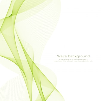 Fondo elegante abstracto ola verde