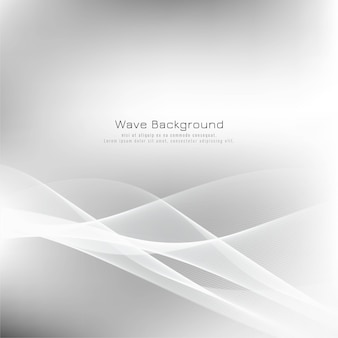 Fondo elegante abstracto de la onda gris