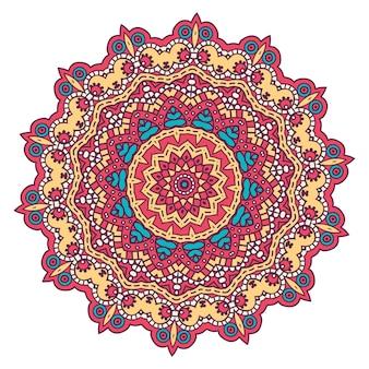 Fondo elegante colorido mandala