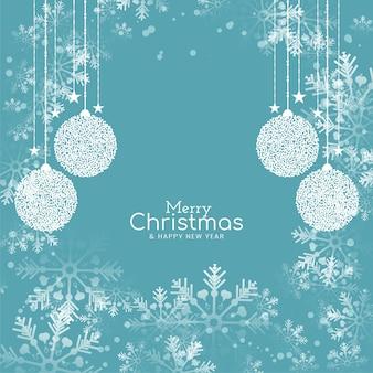 Fondo elegante festival de feliz navidad de color plano suave