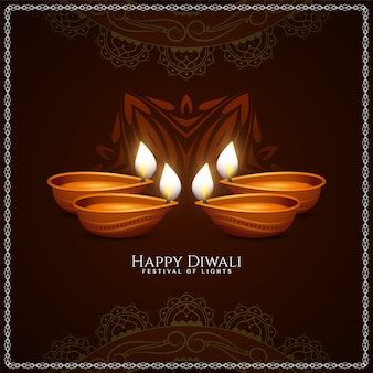 Fondo elegante del festival tradicional feliz de diwali