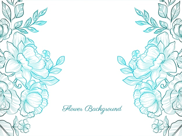 Fondo elegante flor decorativa dibujada a mano