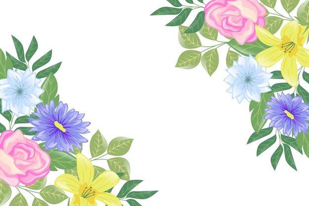Fondo elegante con flores florecidas