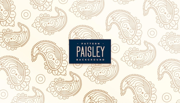 Fondo elegante hermoso patrón de paisley
