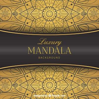 Fondo elegante de mandala con estilo lujoso