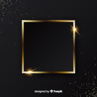 Fondo elegante de marco dorado brillante