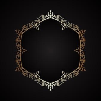 Fondo elegante con un marco dorado decorativo