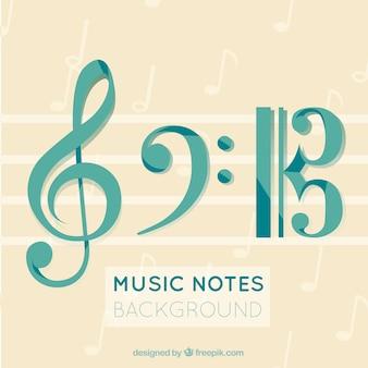Fondo elegante de música