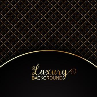 Fondo elegante negro con elementos dorados