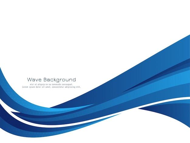 Fondo elegante de la onda azul moderna elegante