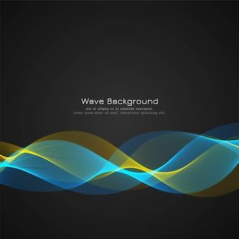 Fondo elegante de la onda colorida abstracta