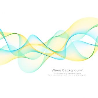 Fondo elegante de onda colorida