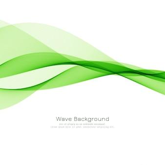 Fondo elegante de la onda verde
