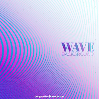 Fondo elegante con ondas coloridas