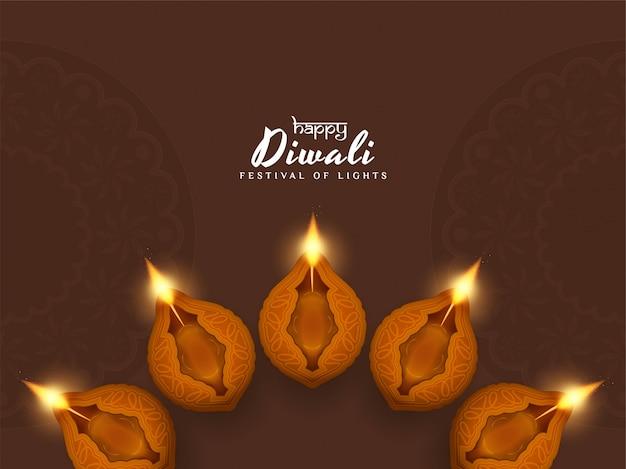 Fondo elegante religioso abstracto feliz de diwali