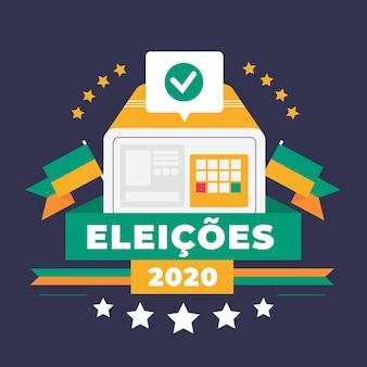 Fondo de eleições 2020 de diseño plano