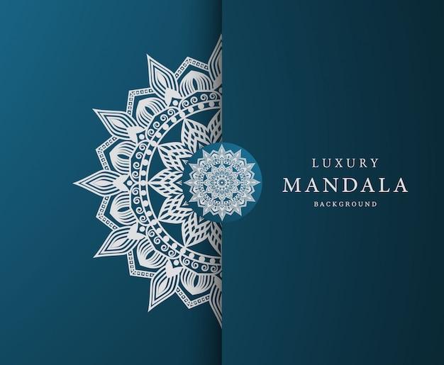 Fondo de elemento étnico decorativo mandala de lujo con patrón arabesco