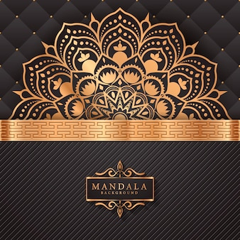 Fondo de elemento étnico decorativo mandala de lujo