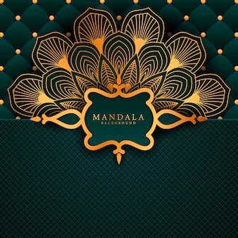 Fondo de elemento étnico decorativo de mandala de lujo