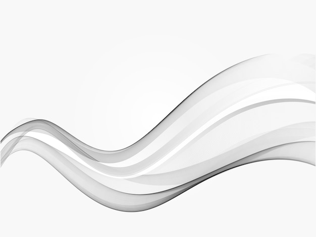 Fondo de elemento de línea degradado gris abstracto de onda.